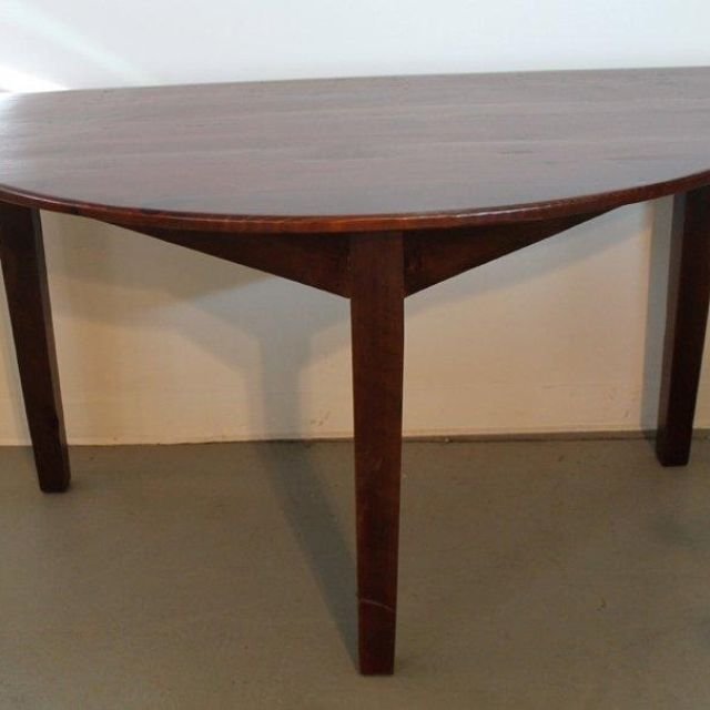 Custom Made Small Half Circle Dining Table by ECustomFinishes | Reclaimed  Wood Furniture | CustomMade.com - Custom Made Small Half Circle Dining Table By ECustomFinishes
