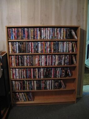 Custom Made Oak Dvd Rack