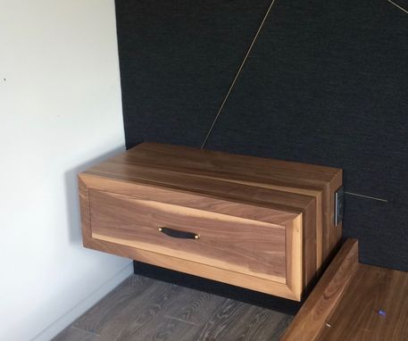 Custom Made Floating Nightstand