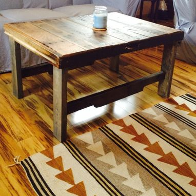 Custom Made Reclaimed Pallet Wood Coffee Table