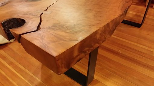 Custom Made Redwood Slab Dining Table