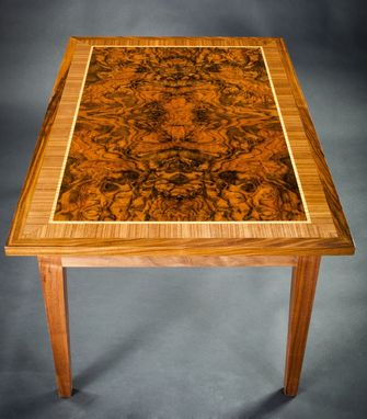 Custom Made Walnut Burl Coffee Table