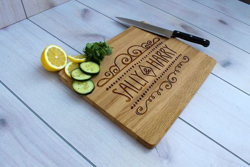 Custom Made Personalized Cutting Board, Engraved Cutting Board, Custom Wedding Gift – Cb-Wo-Sally Harry
