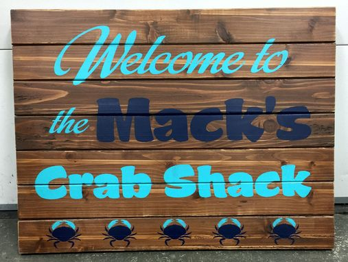 Custom Made Custom Rustic Wood Sign