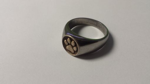 Custom Made Stainless Steel Mirror Finish Panther Paw Signet Ring