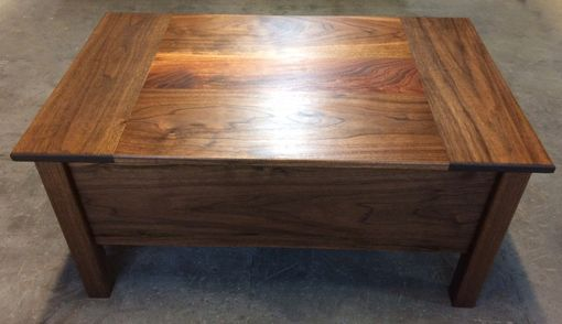 Custom Made Lift Top Combination Storage Coffee Table And Desk Made From Solid Hardwood Or Pine