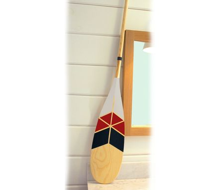 Custom Made Set Of Two Painted Canoe Paddles - Solid Ash Handpainted Paddle