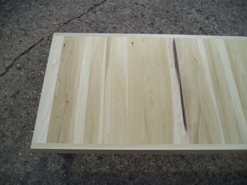 Custom Made Coffee Table Made From Reclaimed Poplar And Steel Legs, Ready To Ship