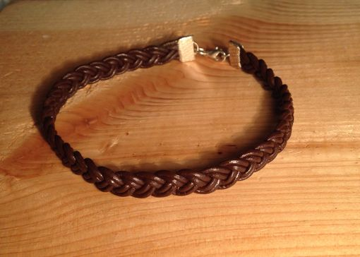 Custom Made Braided Leather Bracelet