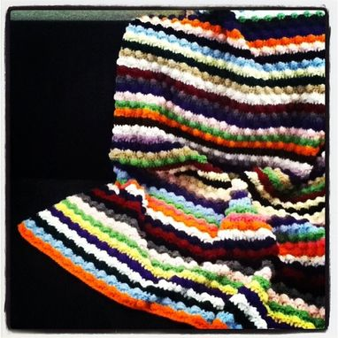 Custom Made Bobble Stitch Afghan