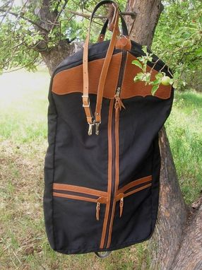 Custom Made Western Garment Bag - Buffalo Leather