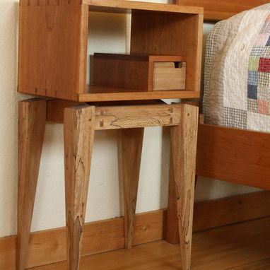 Custom Made Mid Century Modern Nightstand