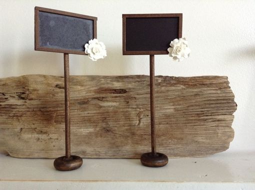 Custom Made Rustic Chalkboard Seating Cards/Display Signs