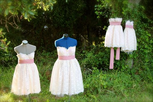 Custom Made Wedding Or Bridesmaid Dress- Cupcake Style