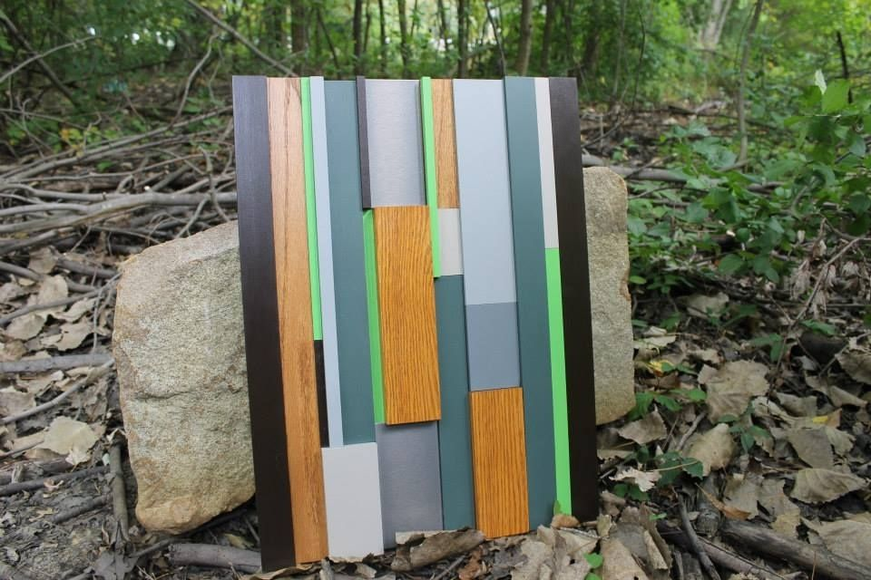 Hand Crafted Modern Wood Art In Earth Tone Colors, Home Decor ...