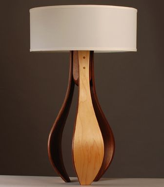 "Custom Made ""Chloe"" Table Lamp In Maple And Walnut"