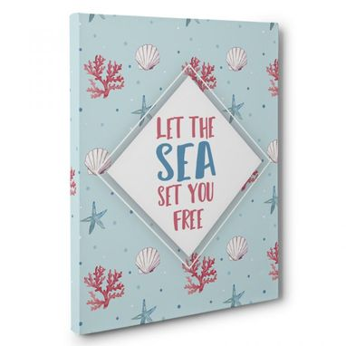 Custom Made Let The Sea Set You Free Canvas Wall Art