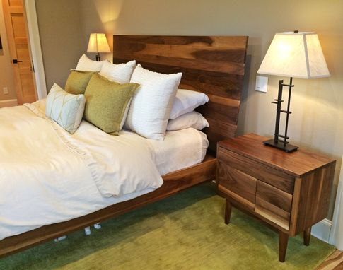 Custom Made Walnut King Size Bed