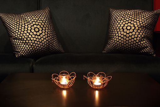 Custom Made Wire Wrapped Decorative Votive Candle Holders