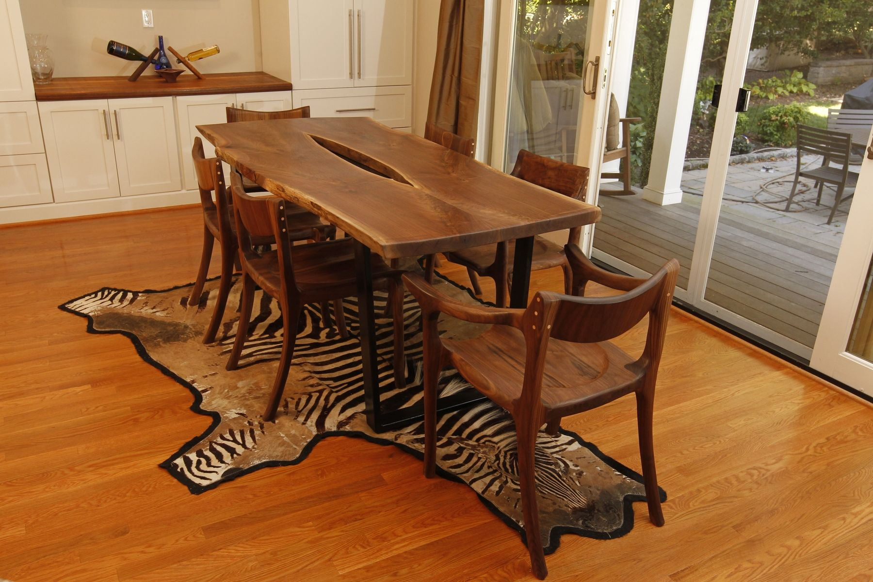 Walnut live edge dining table - Custom Made Live Edge Walnut Carbon Fiber Dining Table