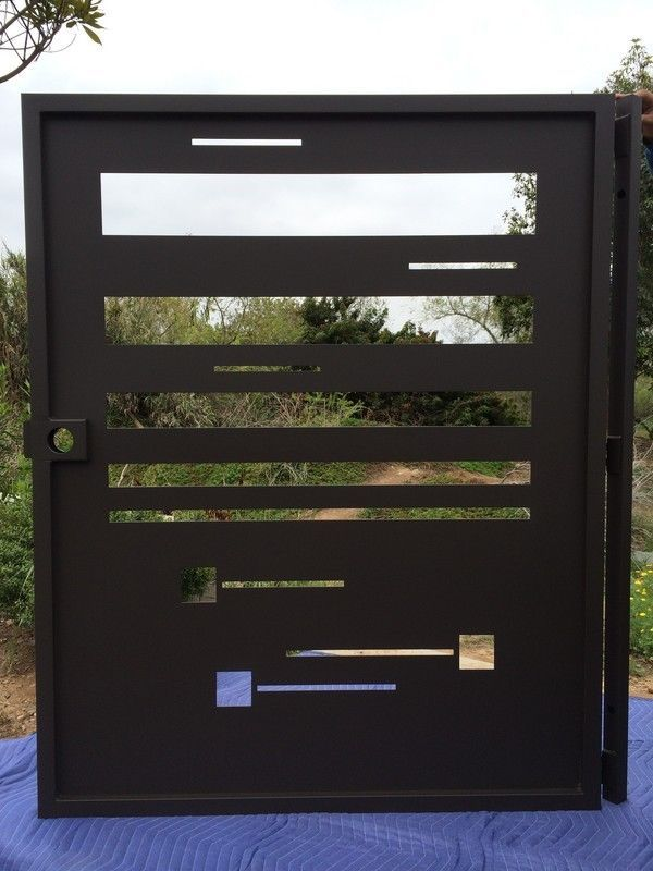 Buy a Hand Made Modern Art Design Metal Steel Walkway Gate Custom