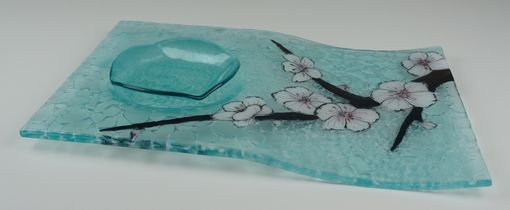 Custom Made Blossom Branch A - Serving Tray With Bowl