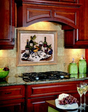 Custom Made Cabernet Backsplash