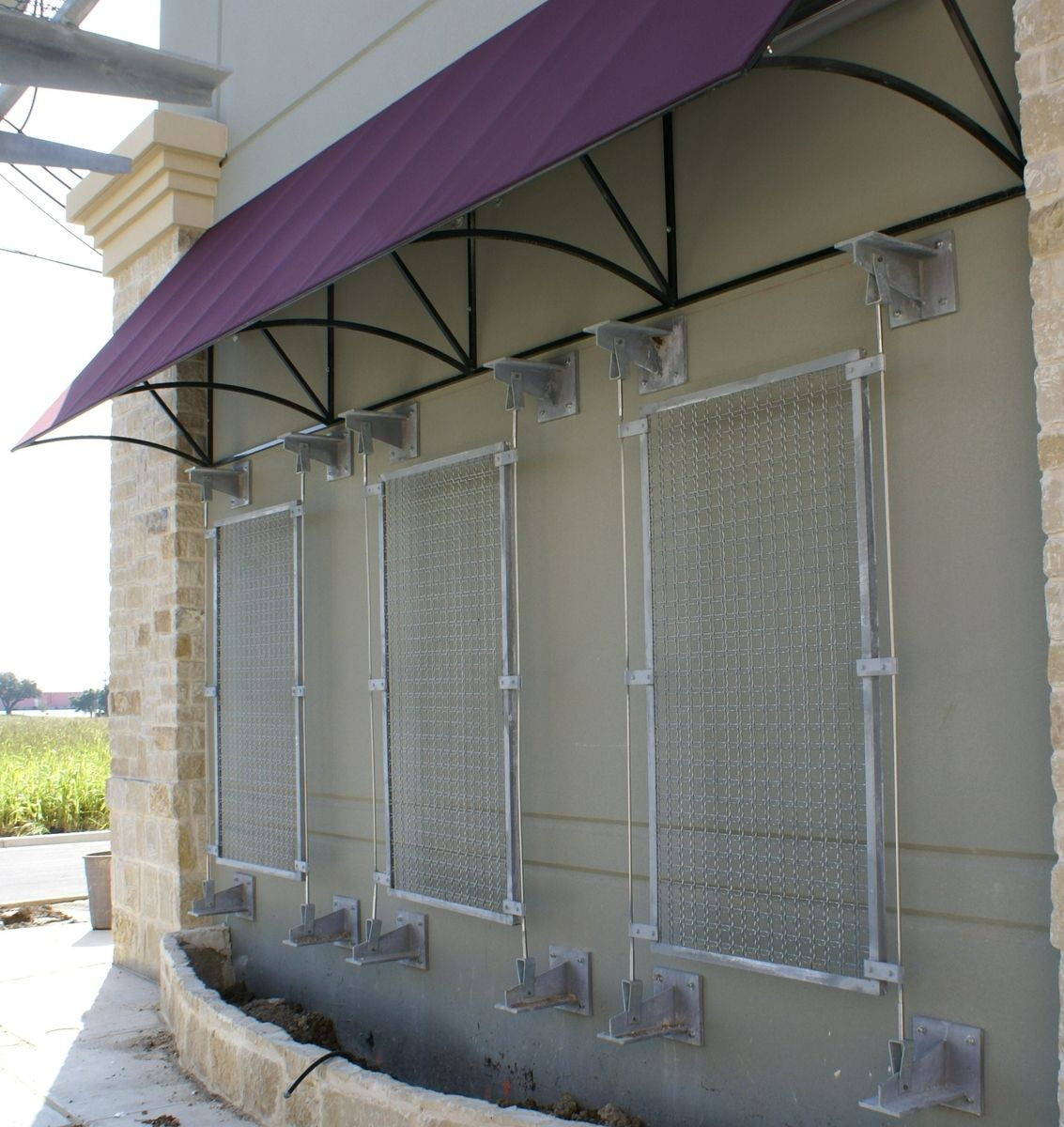 handmade chism fabric awnings wire mesh screens metal awnings