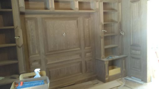 Custom Made Custom Europian Style Library Out Of Walnut