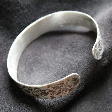Custom Made Hammered Sterling Cuff