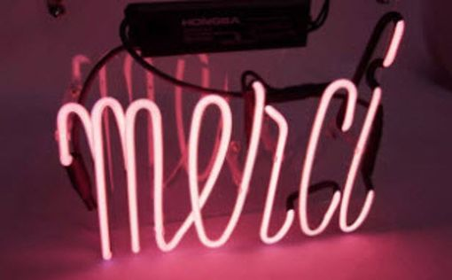 Custom Made Merci Neon Sign