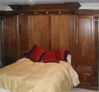 Custom Made Queen Murphy Bed And Armoire