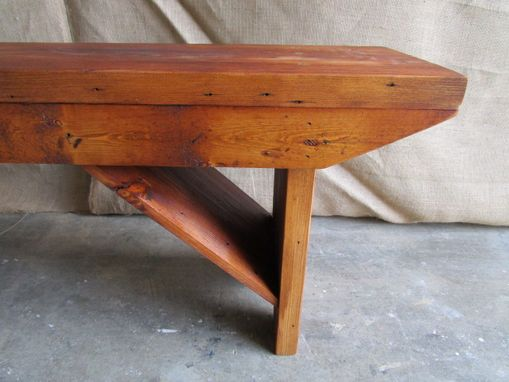 Custom Made Bench Made From Reclaimed Wood In The Usa
