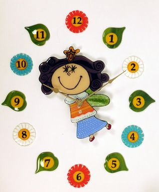 "Custom Made A Wall Clock For Kids Room ""Time Fairy"""