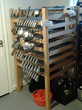 Custom Made Cherry Golf Club Display Rack