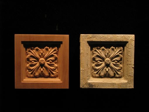 Custom Made Carved Corner Block Reproduction