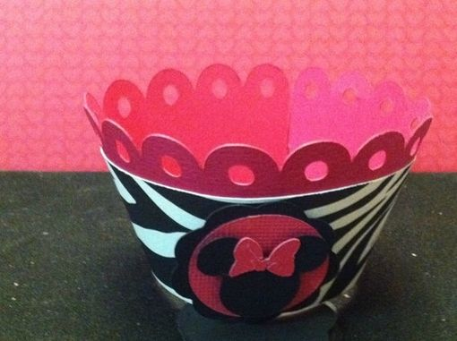 Custom Made Minnie Inspired Cupcake Wrappers Set Of 12