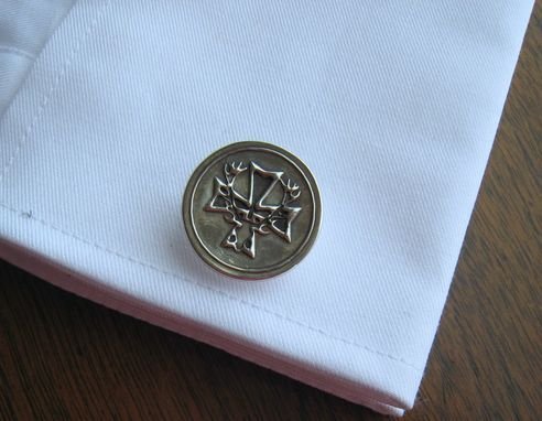 Custom Made Sterling Silver Cufflinks Heraldic Coat Of Arms Order Of St Hubertus