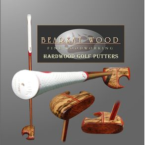 Hand Crafted Golf Putters By Bearkat Wood Custommade Com