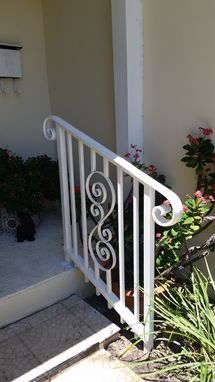 Custom Made Ornamental Aluminum Handrail