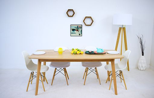 Custom Made The Santa Monica, Mid Century Modern Solid Cherry Dining Table