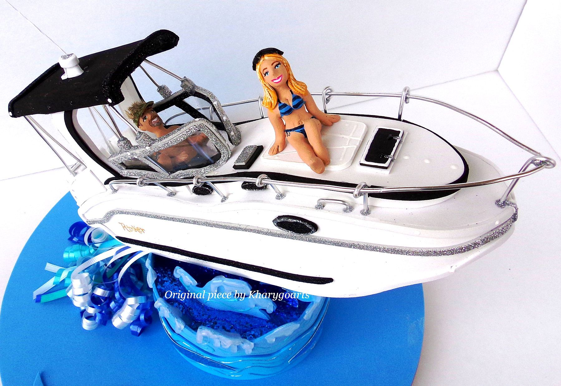 Custom Boat Wedding Cake Topper by Kharygoarts Cake toppers & more ...