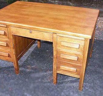 Golden Oak Desk Restoration