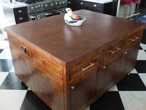 Custom Made Butcher Block Island Top End Grain Cherry