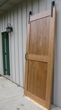 Custom Made Massive Solid Cherry Interior Carriage Door