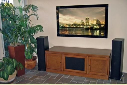 Custom Made White Maple Tv And Media Console