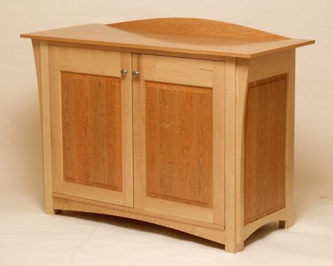 Custom Made Cherry And Maple Cabinet