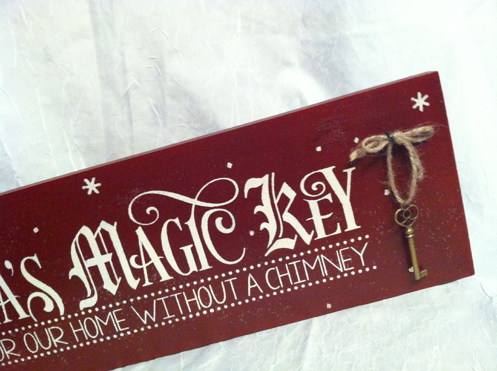 Buy A Hand Crafted Santa S Magic Key Sign For Our Home
