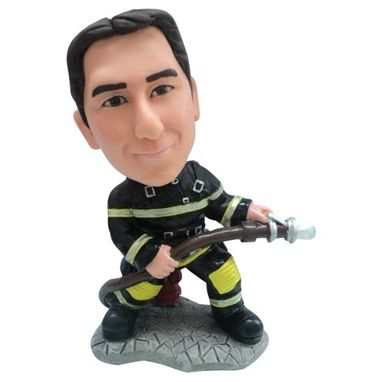 Custom Made Personalized Firefighter Bobblehead