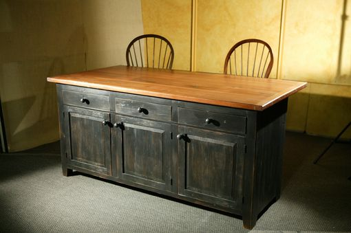 Custom Made Rustic Barn Wood Kitchen Island